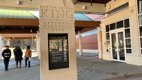The Martin Luther King Jr. National Historic Site is one of many National Park Service facilities closed during the partial government shutdown.