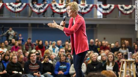 MANCHESTER, NH - JANUARY 12:  Sen. Elizabeth Warren (D-MA), speaks during a New Hampshire organizing event for her 2020 presidential exploratory committee at Manchester Community College on January 12, 2019 in Manchester, New Hampshire. Warren announced on December 31 that she was forming an exploratory committee for the 2020 presidential race.  (Photo by Scott Eisen/Getty Images)