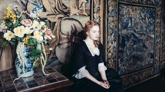 Emma Stone in the film 'The Favourite'