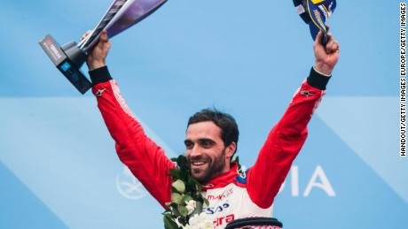 Jerome d'Ambrosio moved top of the leaderboard after winning Marrakesh ePrix.