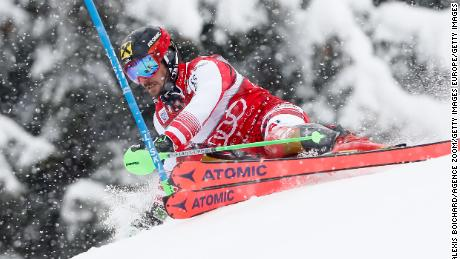 "Hirscher was recently named ""Champion of Champions"" for 2018 by French newspaper L'Equipe."