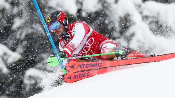 """Hirscher was recently named """"Champion of Champions"""" for 2018 by French newspaper L'Equipe."""