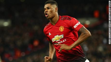 Manchester United's Marcus Rashford is one of many to have backed the #Enough campaign.