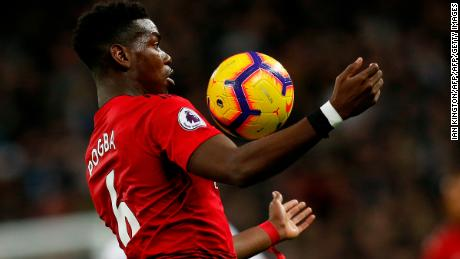 Manchester United's French midfielder Paul Pogba is expected to play against PSG.