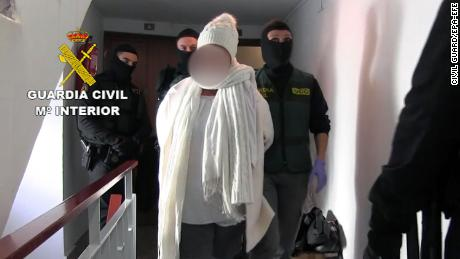 A photograph released by the Spanish Civil Guard on Saturday shows arrests in the suspected kidnapping of  American businesman William Kopko.