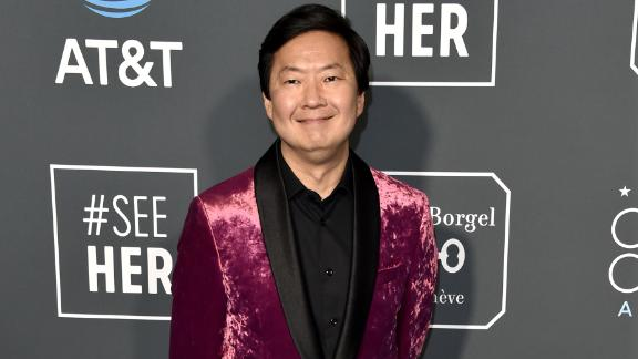 Ken Jeong's velvety pink jacket was bold, to say the least.
