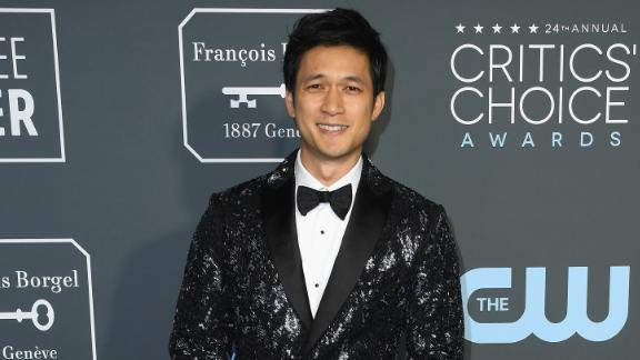 """Crazy Rich Asians"" actor Harry Shum Jr. sported a suave sparkling blazer by Roberto Cavalli."
