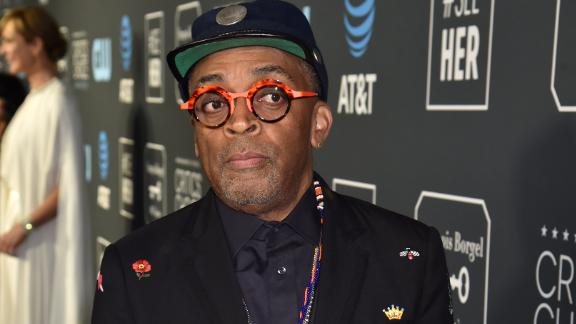 Best Director nominee Spike Lee kept things casual by pairing a quirky blazer with a baseball cap.