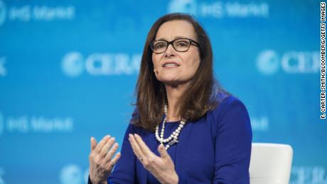 Geisha Williams speaks during the 2018 CERAWeek by IHS Markit conference in Houston, Texas, on Thursday, March 8, 2018.