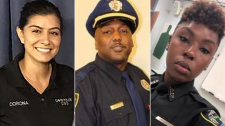 Three police officers have been shot dead across the US in less than a week