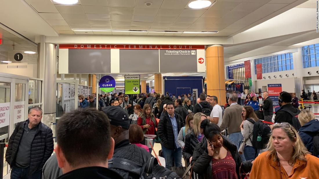 Airports Feel Shutdown Pinch As TSA Callouts Lengthen Lines