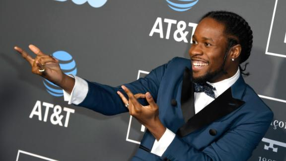 """Shameik Moore, star of """"Spider-Man: Into the Spider-Verse,"""" was one of a number of male guests to eschew black-tie tradition."""