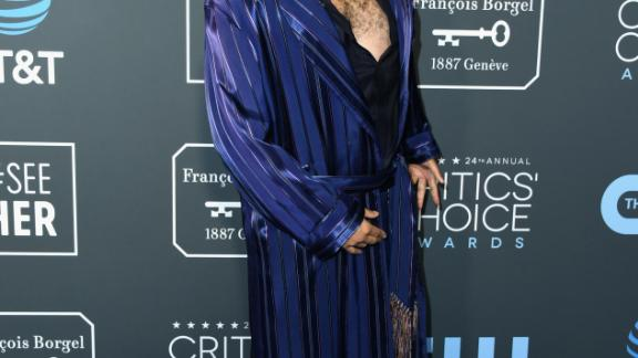 Boots Riley looked at home -- literally -- in this silky dressing gown-like outfit.