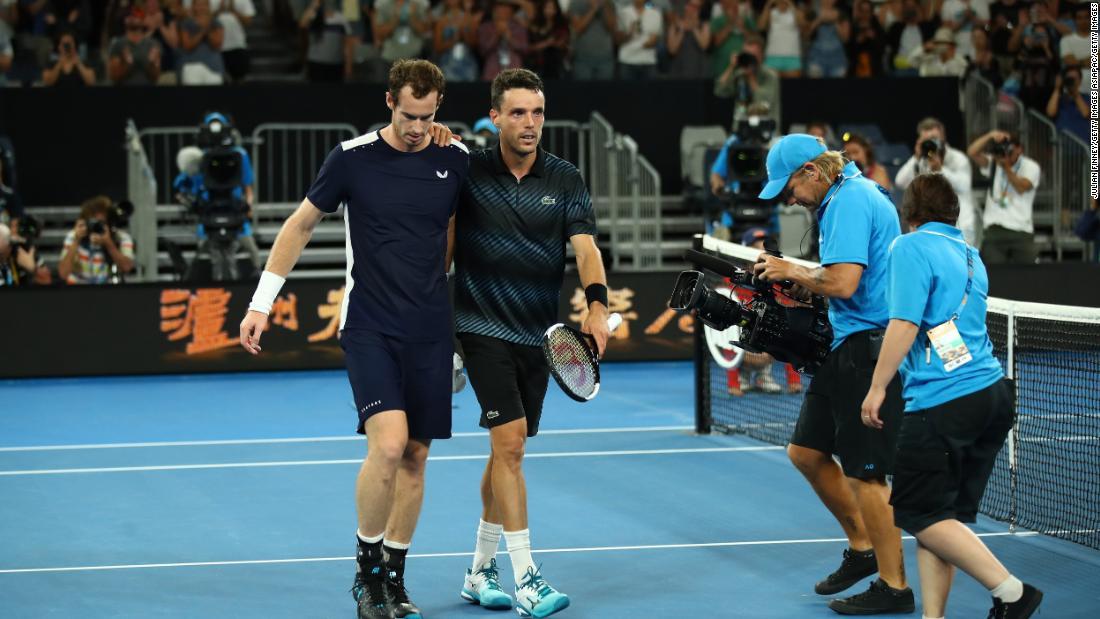 70fca90e2 Andy Murray loses Australian Open thriller to Roberto Bautista Agut ...