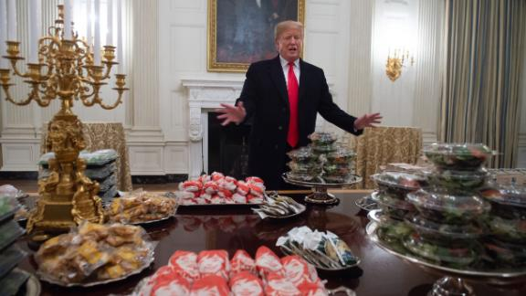Trump displays fast food for Clemson University