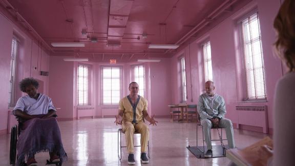 Samuel L. Jackson, James McAvoy, Bruce Willis in 'Glass'