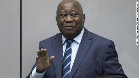 Former Ivory Coast President Laurent Gbagbo enters the courtroom of the International Criminal Court  in The Hague on January 15, 2019.
