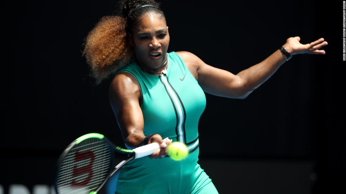 Serena Williams breezes in Aus Open return