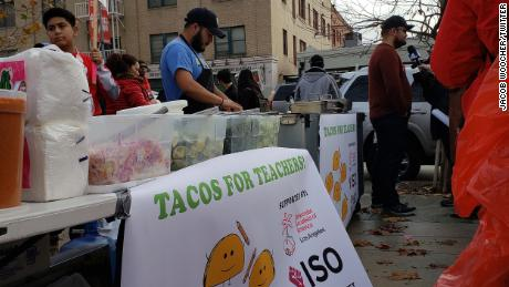 """Tacos for Teachers"" feeds some of the thousands of people participating in LA teacher strike."