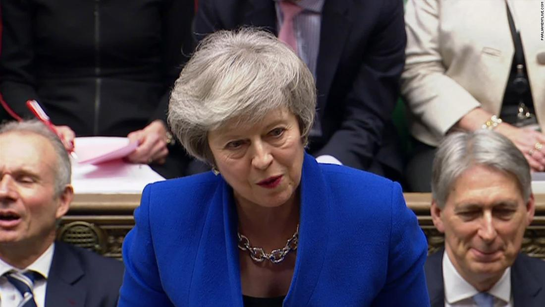 May speaks at 10 Downing after surviving confidence vote
