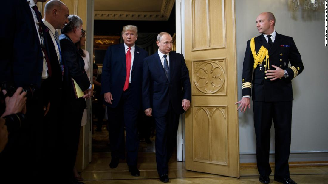 "Trump and Russian President Vladimir Putin arrive for <a href=""https://www.cnn.com/interactive/2018/07/politics/trump-putin-summit-cnnphotos/"" target=""_blank"">their summit</a> in Helsinki, Finland, on July 16. ""Our relationship has never been worse than it is now. However, that changed as of about four hours ago. I really believe that,"" Trump said at <a href=""https://www.cnn.com/politics/live-news/trump-putin-helsinki/h_569a52a7d2dc362ff45aefd8d24ce16c"" target=""_blank"">a joint news conference</a> held at the end of the summit."