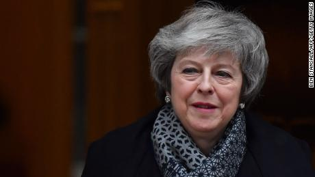 "Britain's Prime Minister Theresa May leaves 10 Downing Street in London on January 16, 2019 ahead of Prime Minister's Questions (PMQs) to be followed by a debate and vote on a motion of no confidence in the government. - Prime Minister Theresa May faced a confidence vote on Wednesday after MPs overwhelmingly rejected her deal on leaving the European Union, raising fears of a disorderly ""no-deal"" Brexit. (Photo by Ben STANSALL / AFP)        (Photo credit should read BEN STANSALL/AFP/Getty Images)"