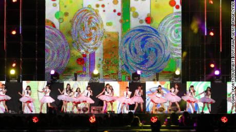 NGT48 perform onstage during the 2015 Asia Song Festival at Busan Asiad Main Stadium on October 11, 2015 in Busan, South Korea.