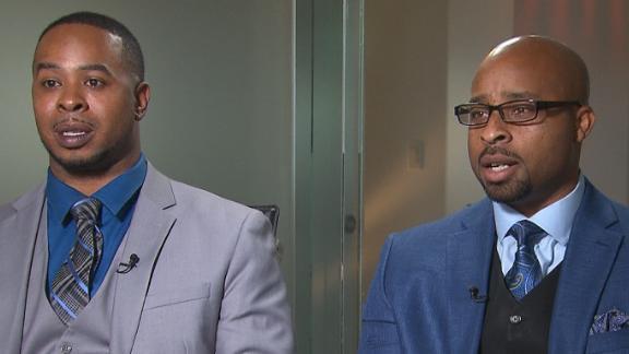 Marcus Boyd (left) and Derrick Brooks.