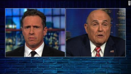 "NS Slug: GIULIANI: TRUMP DIDN'T COLLUDE W/ RUSSIA (FULL)  Synopsis: Rudy Giuliani: ""The President did not collude with the Russians.""  Keywords: US POLITICS PRESIDENT DONALD TRUMP WHITE HOUSE RUSSIA"