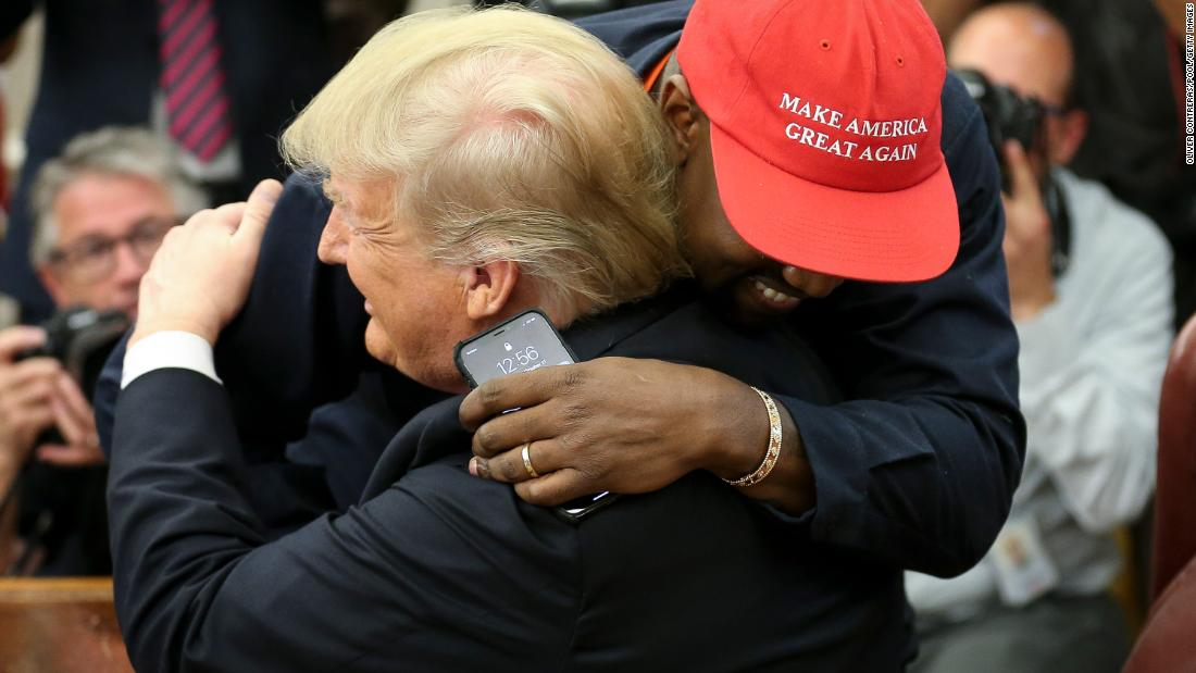 "Rapper Kanye West hugs President Trump in the Oval Office on October 11. West and football legend Jim Brown <a href=""https://www.cnn.com/2018/10/11/politics/kanye-west-donald-trump-white-house-chicago/index.html"" target=""_blank"">were invited for a working lunch</a> to discuss topics such as urban revitalization, workforce training programs and how best to address crime in Chicago. <a href=""https://www.cnn.com/2018/10/11/politics/kanye-west-donald-trump/index.html"" target=""_blank"">Analysis: 17 surreal things that happened during the Trump-West summit</a>"