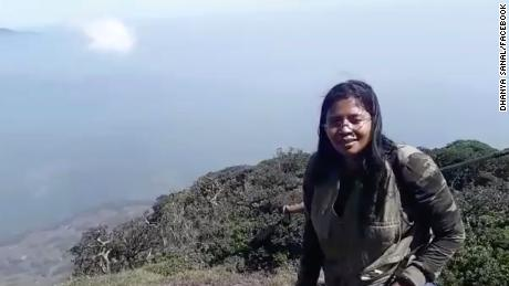 Dhanya Sanal posted this video of her ascent of mount Agasthyakoodam in the Western Ghats range, in India's Kerala state. She became the first Indian woman to climb the sacred mountain, after a court lifted a ban that prohibited women from scaling the peak.