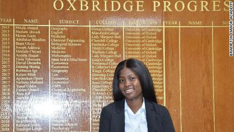 Dorcas Shodeinde has been in care since she was 14 and has an offer to study Law at St Catherine's College, Oxford. (from press release)