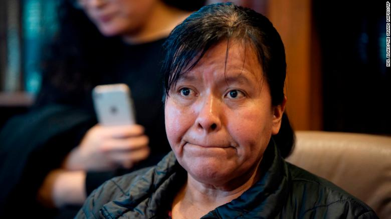 Maria Gomez's son, Jilmar Ramos-Gomez, was held for three days for possible deportation after pleading guilty to a disturbance at a western Michigan hospital.