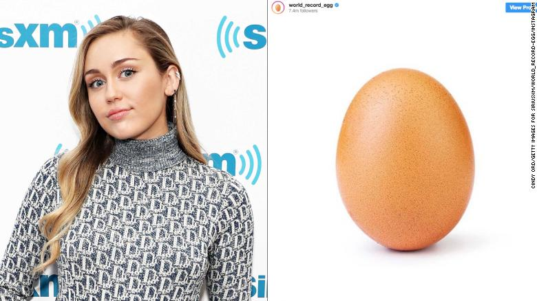 Miley Cyrus denied she's pregnant on social media with an apparent nod to a now-viral egg.