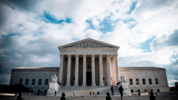 The Supreme Court Building is seen on Decmeber 24, 2018 in Washington DC. - The Supreme Court Building is located at 1 First Street, NE and was designed by architect Cass Gilbert (as Gilbert