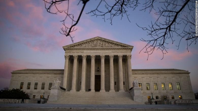 The U.S. Supreme Court building stands at sunset in Washington, D.C., U.S., on Monday, Dec. 17, 2018.