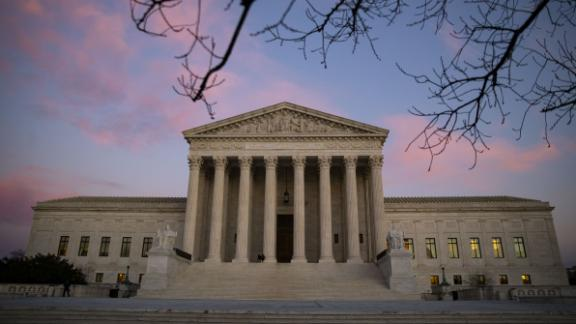 The U.S. Supreme Court building stands at sunset in Washington, D.C., U.S., on Monday, Dec. 17, 2018. President Donald Trump isn