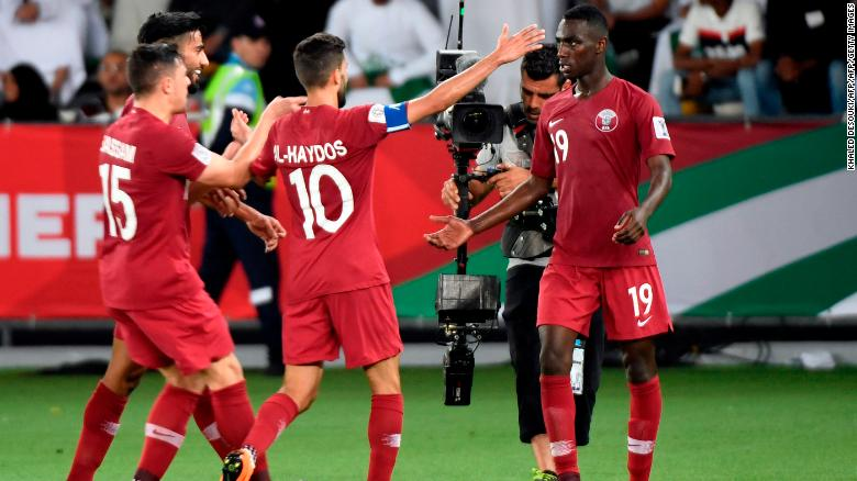 Qatar claimed a 2-0 win over Saudi Arabia in its final group game at the 2019 Asian Cup.