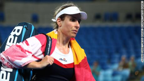 Konta was unhappy over the late start to the match.