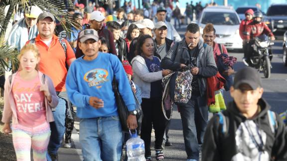 A number of migrant caravans have set off from Honduras as people travel north.