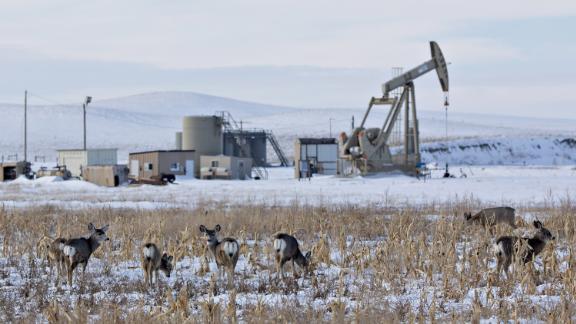 Oil field near Williston, North Dakota.