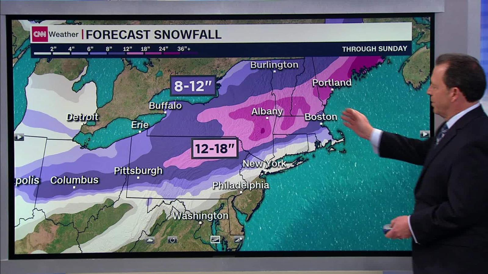 Snow Storm Weather Map.Snow Forecast For The Us Winter Storm Cnn Video