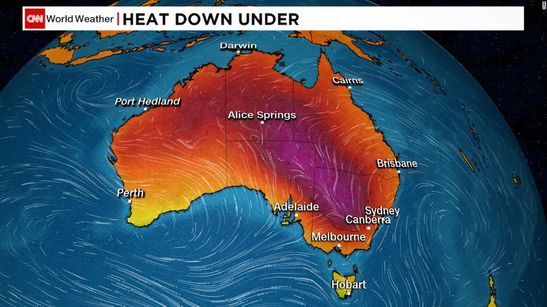 Australia suffers through searing temperatures as heatwave reaches its peak