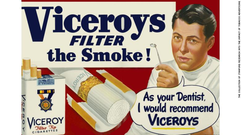 An advert for Viceroy cigarettes.