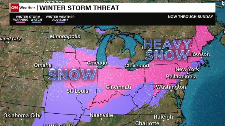 Winter storm threatens 115 million across US