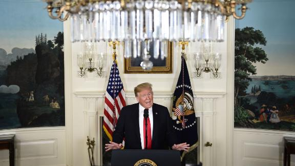US President Donald Trump announces a proposal to end the shutdown on Saturday, January 19. In exchange for $5.7 billion for wall funding, Trump offered temporary protection from deportations for some undocumented immigrants. Democrats swiftly rejected the proposal.