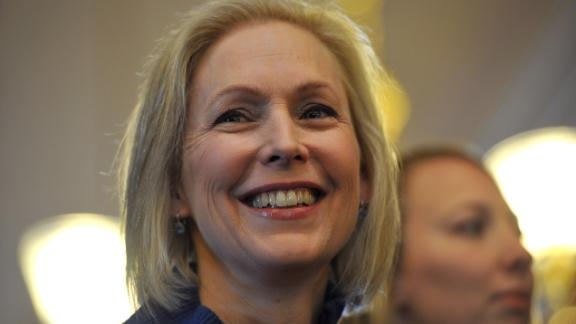 DES MOINES, IA - JANUARY 19: U.S. Sen. Kirsten Gillibrand (D-NY) speaks to a large crowd at the state capitol for the third annual Women