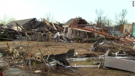 Residents rescued from homes following tornado