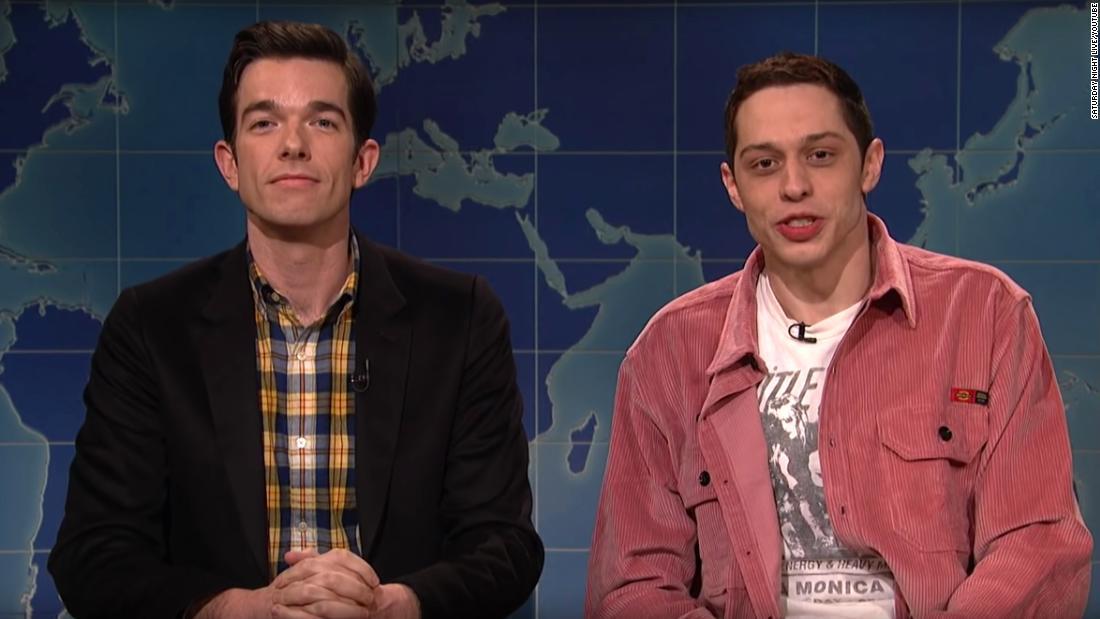 Pete Davidson jokes about his suicide threat in 'SNL' return - CNN
