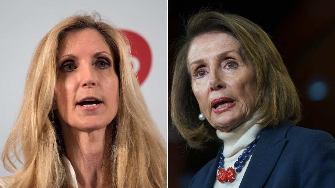 Nancy Pelosi should negotiate with Ann Coulter